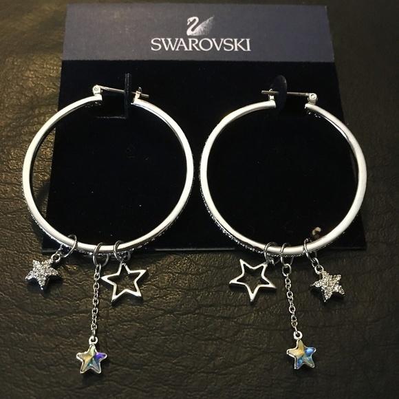 New Authentic Swarovski Mash Hoop crystal classic